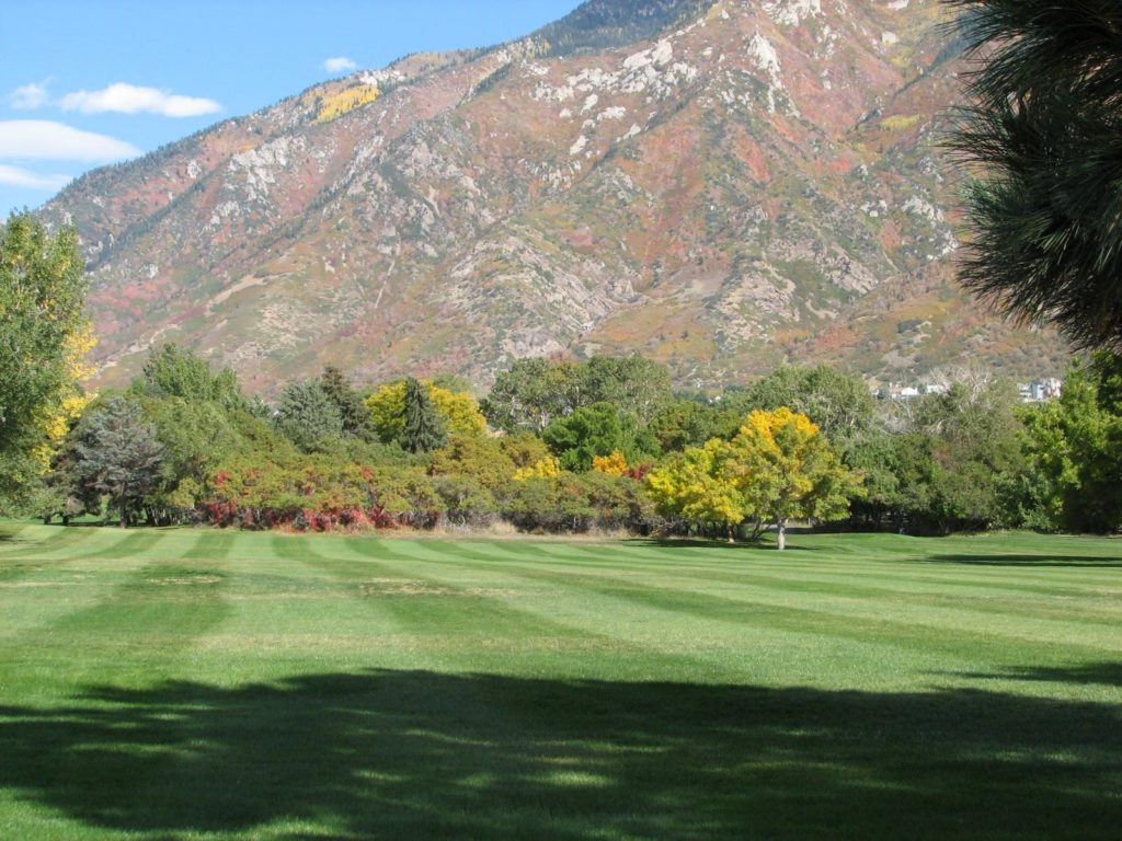Turf Grass installation by The Turf Company at Hidden Valley Country Club, Sandy, Utah