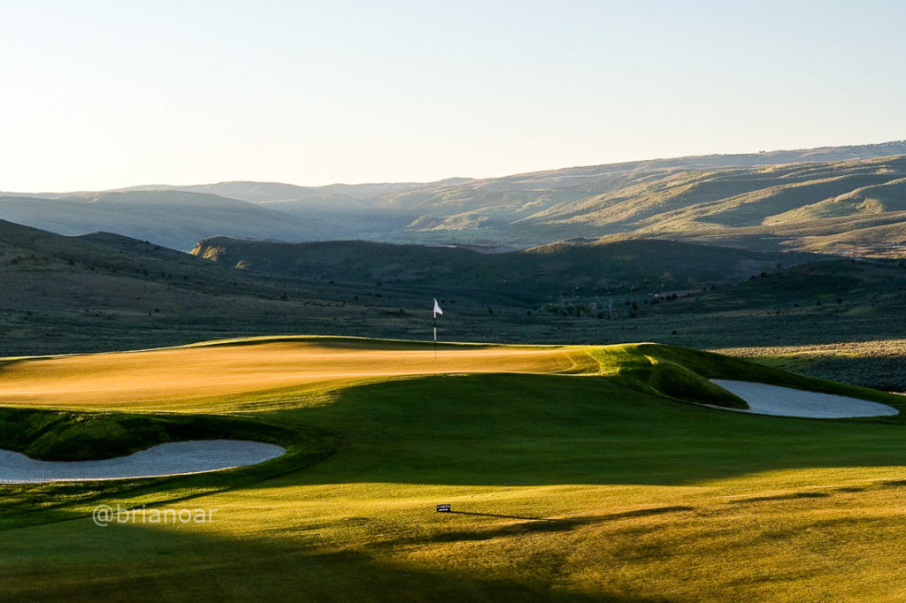 Turf installation by The Turf Company at Tuhaye Golf Course, Park City, Utah